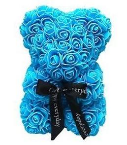Mini Luxury Blue Rose Teddy Bear