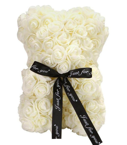 Mini Luxury Cream Rose Teddy Bear