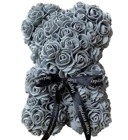 Mini Luxury Grey Rose Teddy Bear