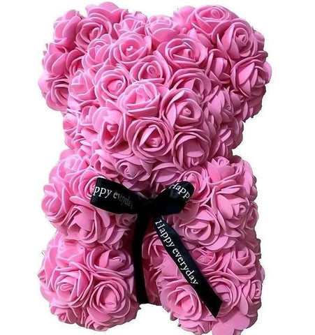 Mini Luxury Pink Rose Teddy Bear