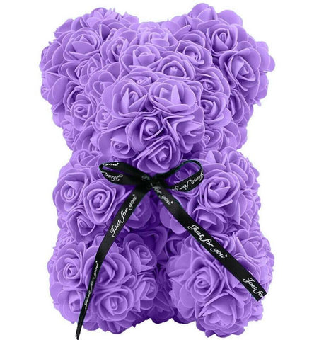 Mini Luxury Purple Rose Teddy Bear