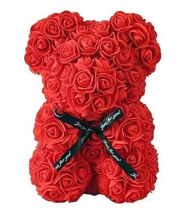 Mini Luxury Red Rose Teddy Bear