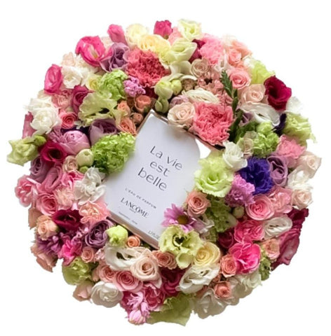 Mixed Flowers Box with Perfume