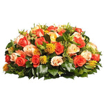 Orange & Peach Roses Posy