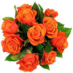 Orange Roses with Greenery Bouquet