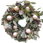 Pastel Holly Christmas Wreath