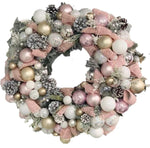 Pastel Pink Christmas Wreath
