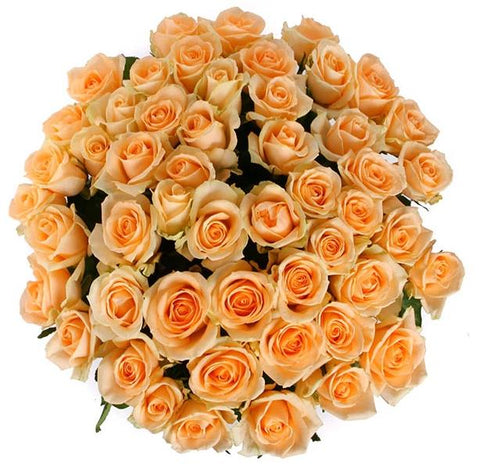 Peach Avalanche Roses Bouquet