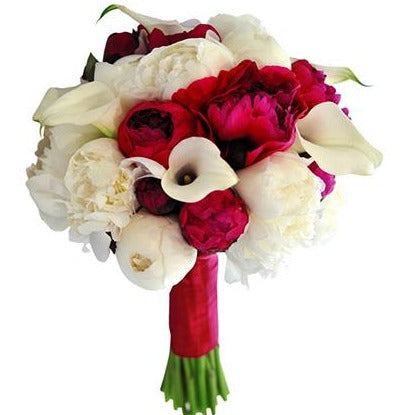 Peonies and Calla Bridal Bouquet