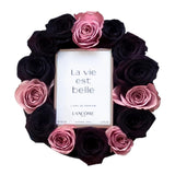 Pink and Black Roses Perfume Box