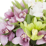 Pink and Green Cymbidium Orchids Bouquet