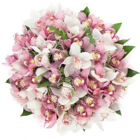 Pink and White Cymbidium Orchids Bouquet