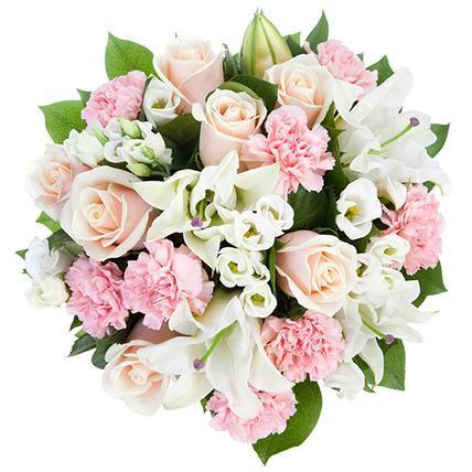 Pink And White Delightful Bouquet