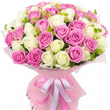 Pink and White Roses with Bupleurum
