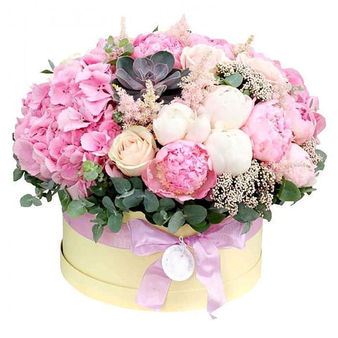 Pink Blooming Hat Box
