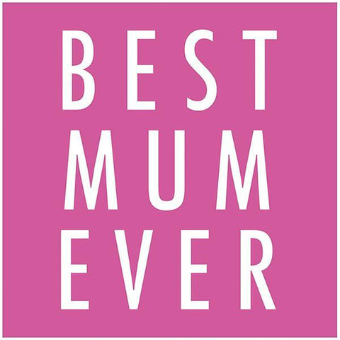 Pink Glitter Best Mum Ever Mother's Day Card
