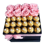 Pink Roses and Chocolate Box