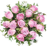 Pink Roses With Eucalyptus