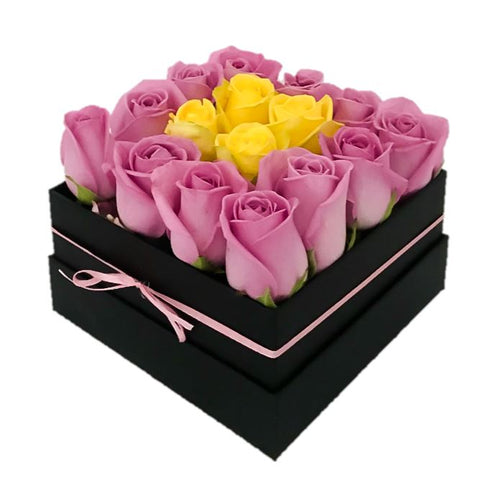 Pink & Yellow Roses Signature Box