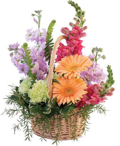 Pleasant Flowers in Basket