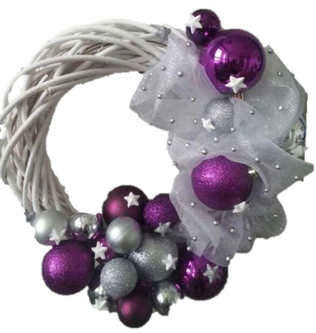 Purple Holly Wreath