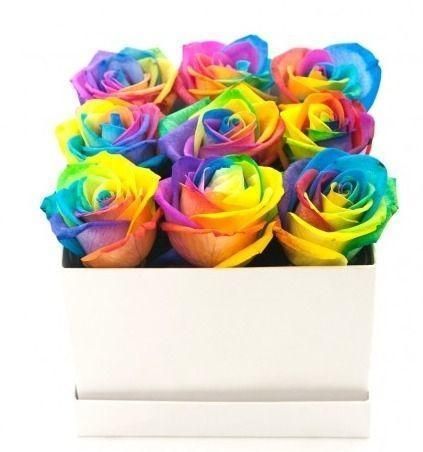 Rainbow Roses Signature Box