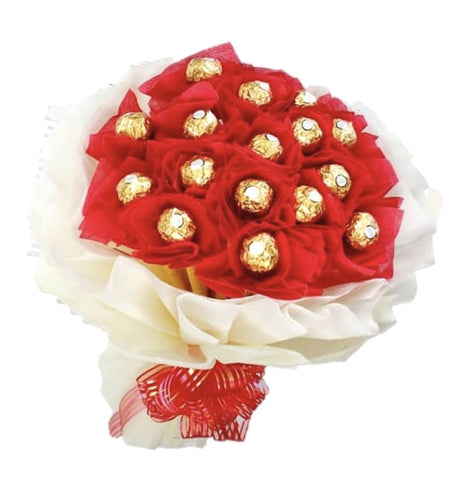 Red and White Chocolate Bouquet