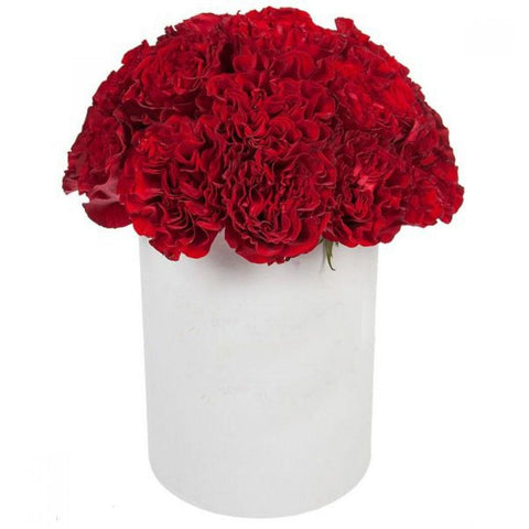Red Carnations Hat Box