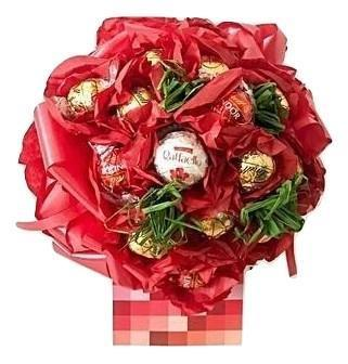 Red Lindt Lindor Chocolate Bouquet