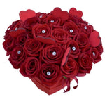 Red Roses with Diamonds Box