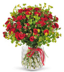 Red Spray Roses with Buphleurum
