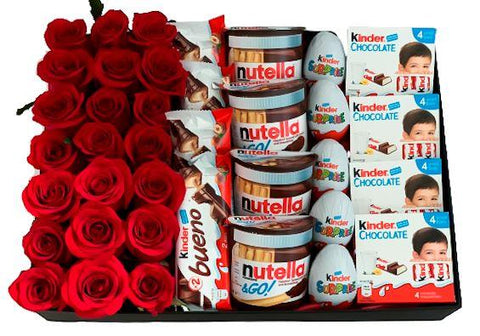 Roses and Kinder Chocolate Box