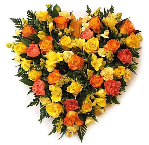 Roses & Freesias Heart