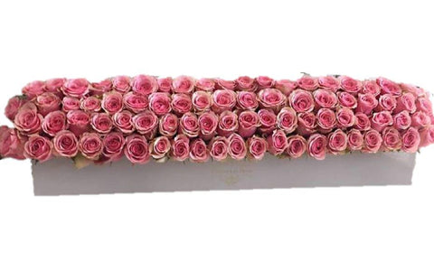 Roses Garland in Rectangular Box