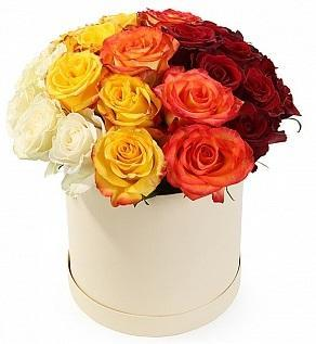 Roses Quartet Hat Box
