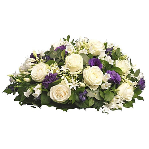 Roses With Purple Posy