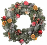 Snow Christmas Wreath