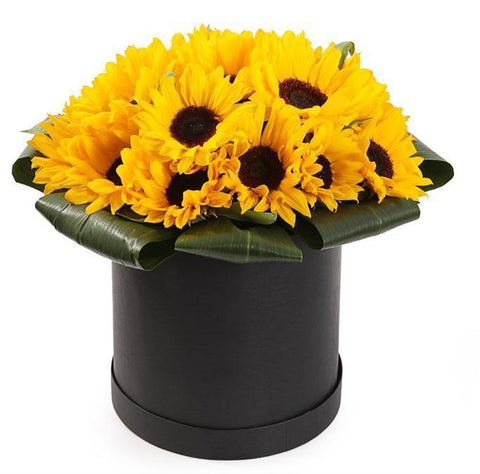 Sunflowers Hat Box