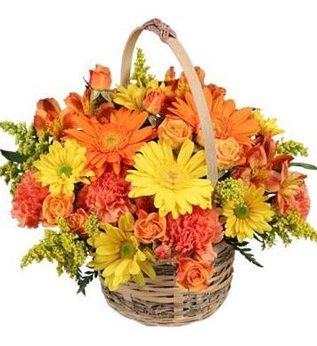 Sunset Flower Basket