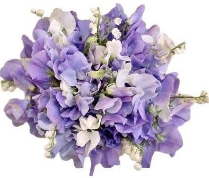 Sweet Pea and Lily of Valley Bouquet