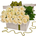 Two Dozen White Roses Luxury Box