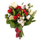 White Amaryllis and Berry Bouquet