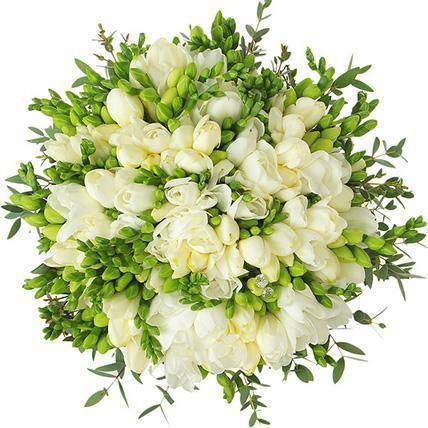 White Freesias Bouquet