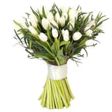 White Tulips with Greenery