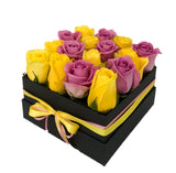 Yellow & Pink Roses Signature Box