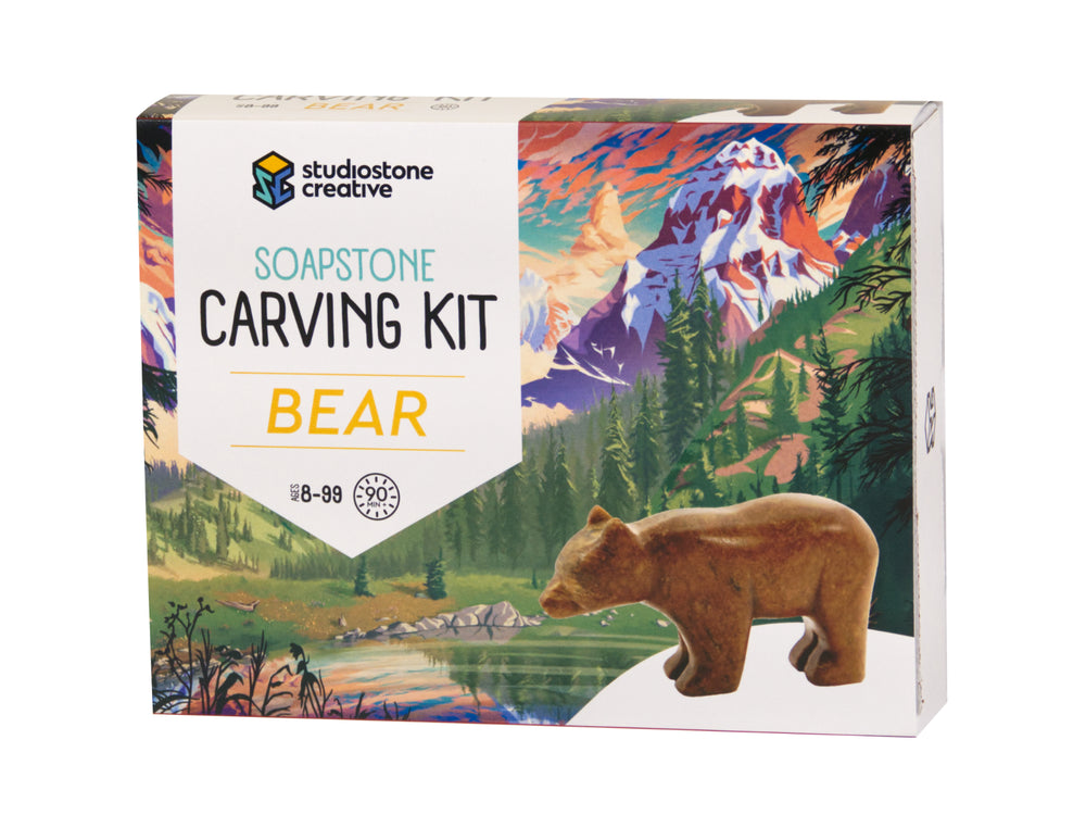 Load image into Gallery viewer, Bear Soapstone Carving Kit