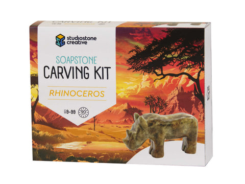 Rhinoceros Soapstone Carving Kit