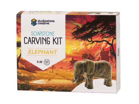 Elephant Soapstone Carving Kit