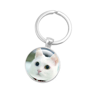 Key Rings for Cat Lovers with Cute Kitty Faces