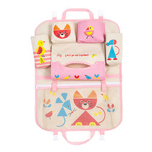 Cartoon Back-Seat Bag Organizer - Stow food, baby wipes, books, iPads, etc.